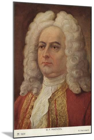 Portrait of George Friedrich Handel--Mounted Giclee Print