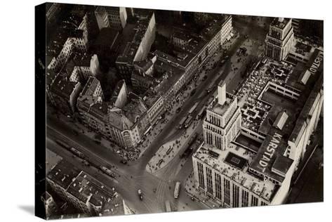 An Aerial View of Hermannplatz, Berlin Neukoelln, from 'Zeppelin-Weltfahrten'--Stretched Canvas Print