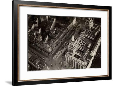 An Aerial View of Hermannplatz, Berlin Neukoelln, from 'Zeppelin-Weltfahrten'--Framed Art Print