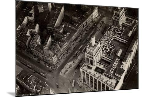 An Aerial View of Hermannplatz, Berlin Neukoelln, from 'Zeppelin-Weltfahrten'--Mounted Photographic Print