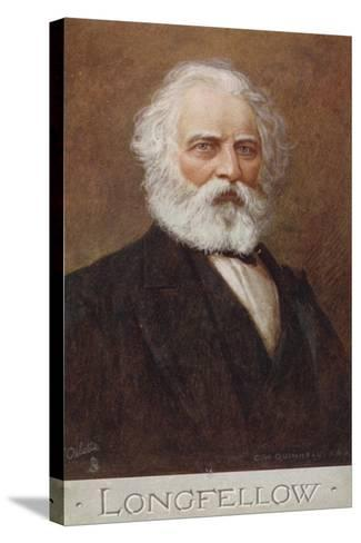 Henry Wadsworth Longfellow--Stretched Canvas Print