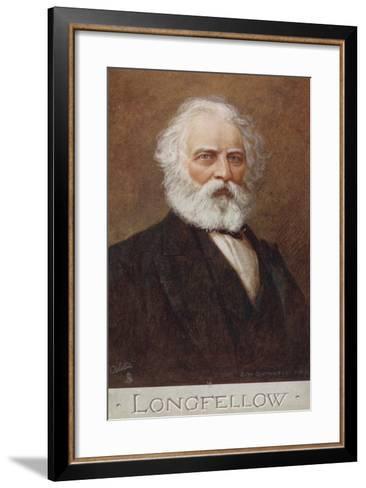 Henry Wadsworth Longfellow--Framed Art Print