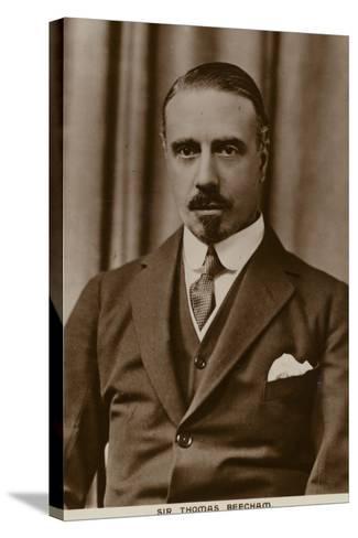 Sir Thomas Beecham, English Conductor and Impresario--Stretched Canvas Print
