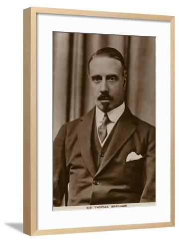 Sir Thomas Beecham, English Conductor and Impresario--Framed Art Print