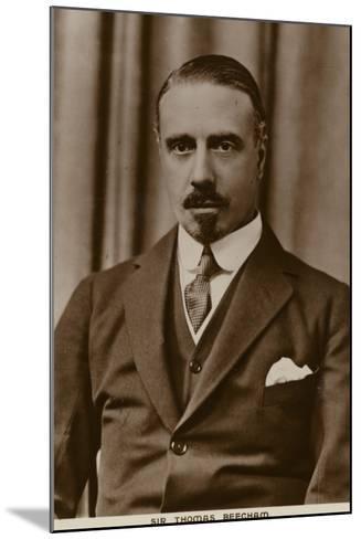 Sir Thomas Beecham, English Conductor and Impresario--Mounted Photographic Print