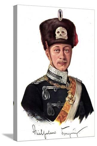 Künstler Kronprinz Wilhelm Von Preußen Als Husar--Stretched Canvas Print