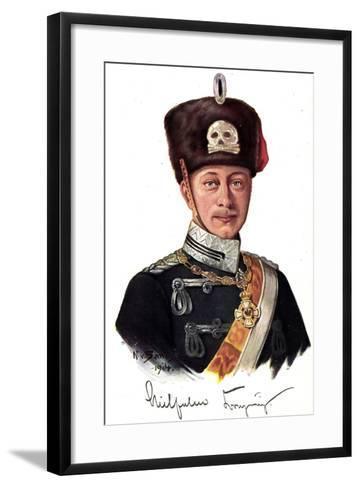 Künstler Kronprinz Wilhelm Von Preußen Als Husar--Framed Art Print