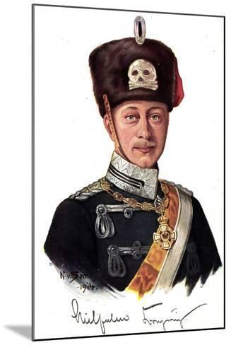 Künstler Kronprinz Wilhelm Von Preußen Als Husar--Mounted Giclee Print