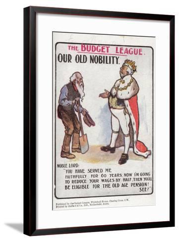 Our Old Nobility--Framed Art Print