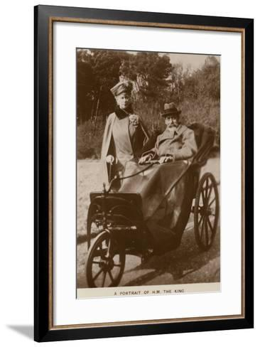 George V and Mary of Teck--Framed Art Print