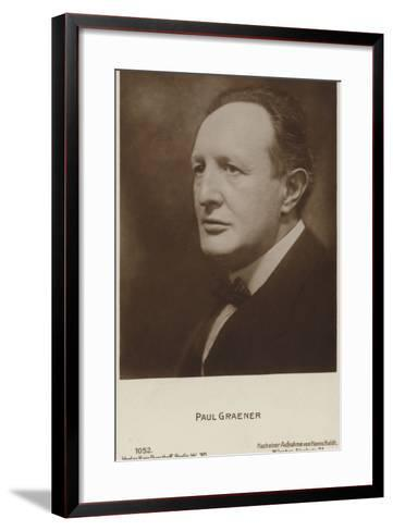 Paul Graener, German Composer and Conductor--Framed Art Print