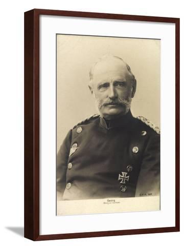 König Friedrich August Georg Von Sachsen--Framed Art Print