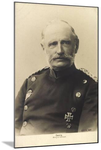 König Friedrich August Georg Von Sachsen--Mounted Giclee Print