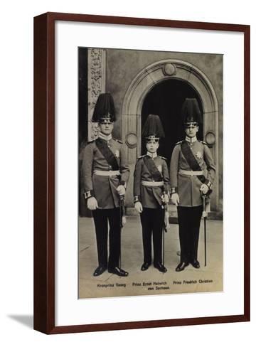 Kronprinz Georg,Heinrich V Sachsen, Friedr. Christian--Framed Art Print