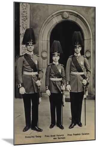 Kronprinz Georg,Heinrich V Sachsen, Friedr. Christian--Mounted Giclee Print