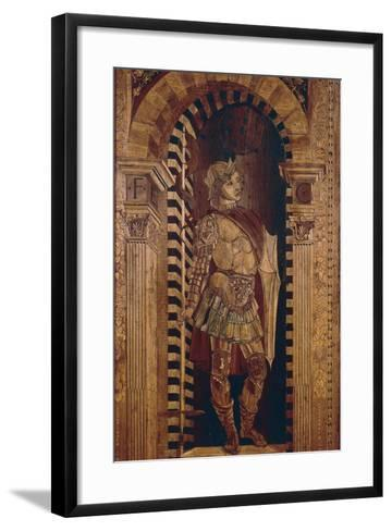 Decorative Inlaid Woodwork, Hall of Vigils, Ducal Palace, Urbino--Framed Art Print
