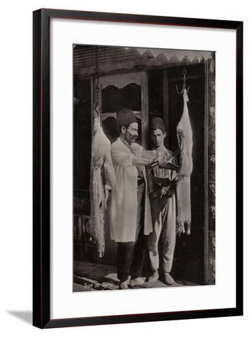 Butcher, Syria--Framed Art Print