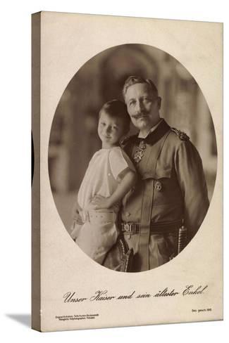 Kaiser Wilhelm II Mit Seinem Ältesten Enkel,Portrait--Stretched Canvas Print