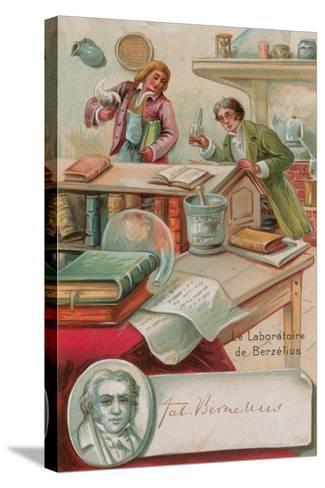 The Laboratory of Berzelius--Stretched Canvas Print