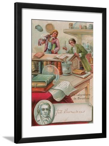 The Laboratory of Berzelius--Framed Art Print