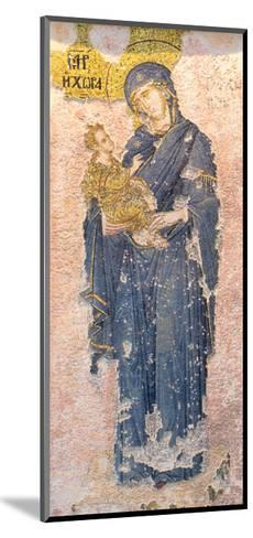 Byzantine Church of St. Saviour in Chora, Mosaic of the Virgin Mary Holding the Christ Child--Mounted Giclee Print