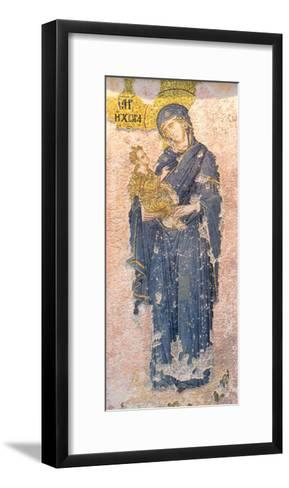 Byzantine Church of St. Saviour in Chora, Mosaic of the Virgin Mary Holding the Christ Child--Framed Art Print