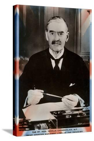 Neville Chamberlain--Stretched Canvas Print