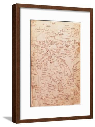 Parchment Map Representing the Holy Land and Adjacent Regions--Framed Art Print
