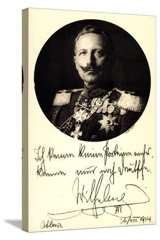 Ganzsachen Kaiser Wilhelm II, Portrait, Auszeichnungen--Stretched Canvas Print