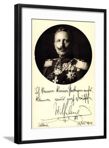 Ganzsachen Kaiser Wilhelm II, Portrait, Auszeichnungen--Framed Art Print