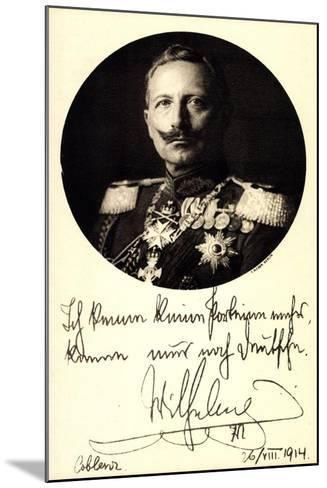 Ganzsachen Kaiser Wilhelm II, Portrait, Auszeichnungen--Mounted Giclee Print