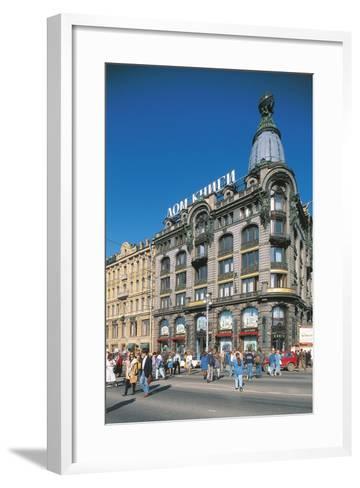Russia, Saint Petersburg, Nevsky Prospekt, Dom Knigi--Framed Art Print