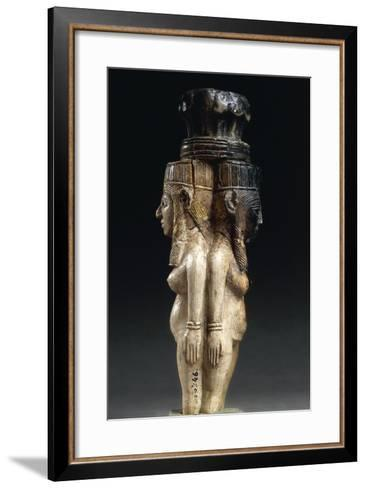 Ivory Caryatids Supporting a Palm Shaped Capital from Nimrud, Iraq--Framed Art Print