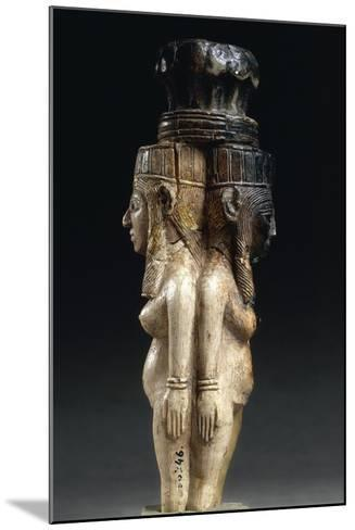 Ivory Caryatids Supporting a Palm Shaped Capital from Nimrud, Iraq--Mounted Giclee Print