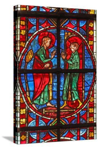 Window W210 Depicting St James and the Magician Hermogenes' Apprentice Philetus--Stretched Canvas Print