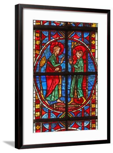 Window W210 Depicting St James and the Magician Hermogenes' Apprentice Philetus--Framed Art Print