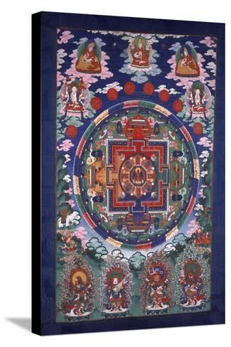 Thangka Mandala--Stretched Canvas Print