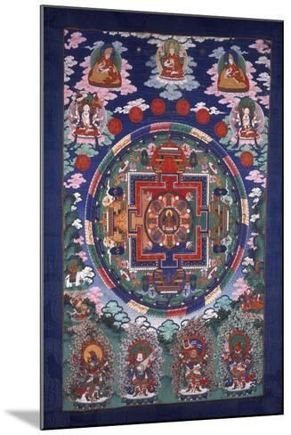 Thangka Mandala--Mounted Giclee Print