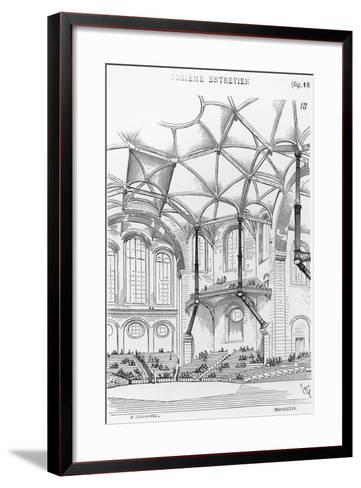 Drawing for Concert Hall--Framed Art Print