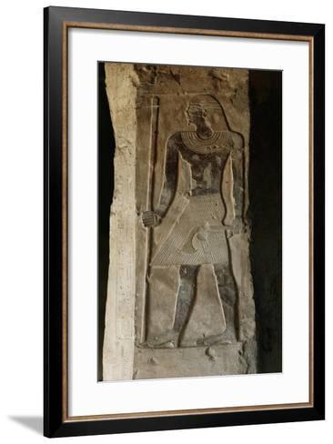 Egypt, El-Moa'Alla, Tomb of Ankhtifi, Painted Relief Depicting Pharaoh--Framed Art Print