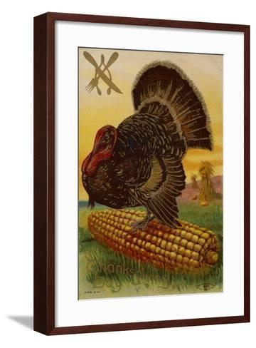 Thanksgiving Card--Framed Art Print