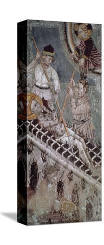 Martyrdom of St. Lawrence, Fresco, Basilica of San Giulio--Stretched Canvas Print