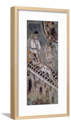Martyrdom of St. Lawrence, Fresco, Basilica of San Giulio--Framed Art Print