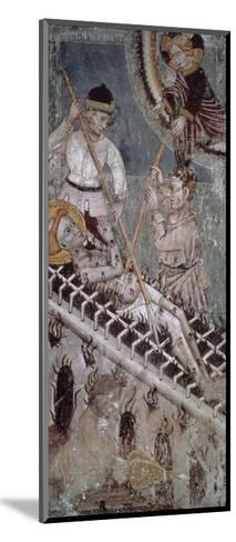 Martyrdom of St. Lawrence, Fresco, Basilica of San Giulio--Mounted Giclee Print