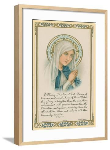 O Mary, Mother of God, Extract of Writing by Saint Ephrem--Framed Art Print
