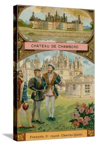 Chateau De Chambord--Stretched Canvas Print