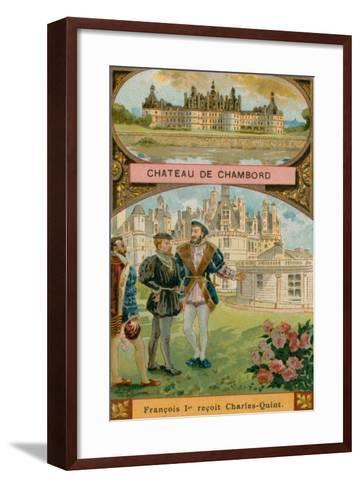 Chateau De Chambord--Framed Art Print