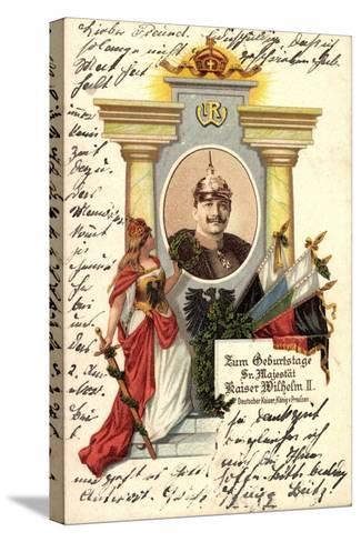 K?nstler Kaiser Wilhelm II V Preu?en, Zum Geburtstag--Stretched Canvas Print