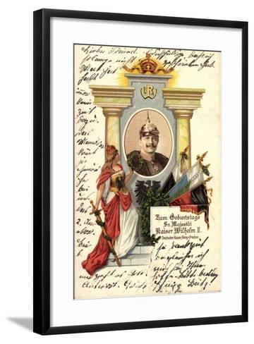 K?nstler Kaiser Wilhelm II V Preu?en, Zum Geburtstag--Framed Art Print