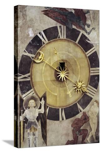 Astronomical Dial, Clock Tower--Stretched Canvas Print